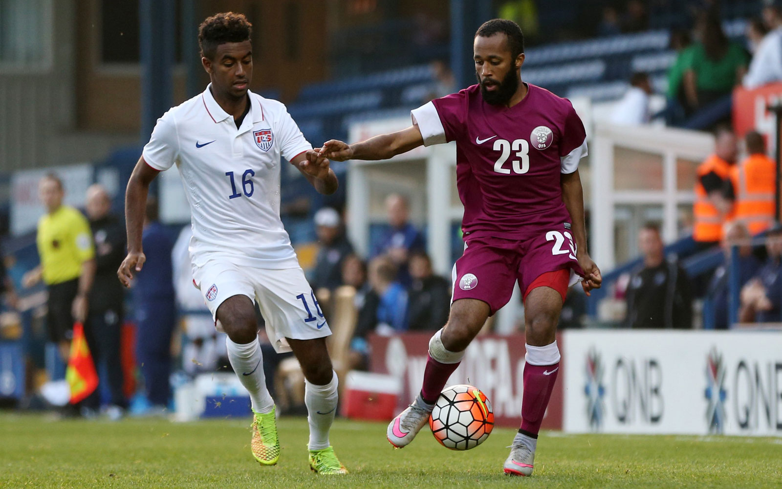 Gedion Zelalem made his U-23 debut off the bench in the USA's 2-0 win over Qatar in England in the final tune-up before Olympic qualifying