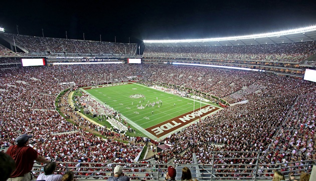 The inside of Bryant-Denny, 20 minutes before it collapsed.