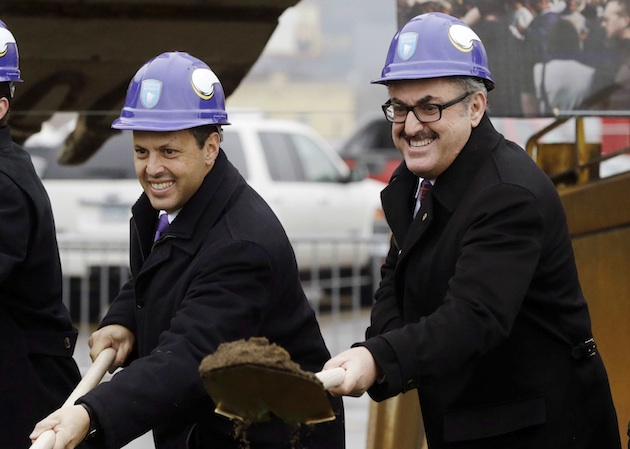 Mark (l) and Zygi Wilf (r) at the groundbreaking U.S. Bank Stadium in 2013.