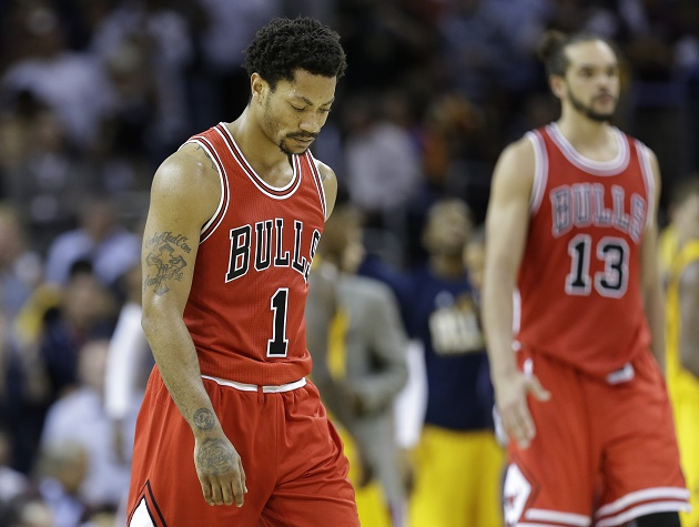 Derrick Rose has had some ups and downs on the floor for the Bulls, when he's even on the floor.