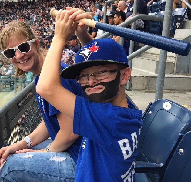 Mini Bautista visits Yankee Stadium