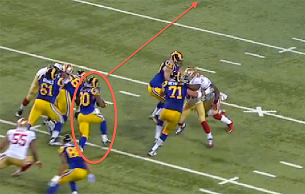 71 yards vs. 49ers