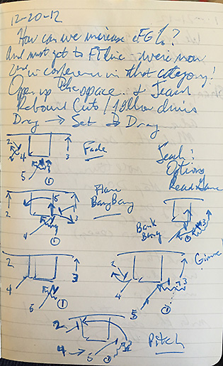 Eslinger kept copious basketball and personal notes in his journals, chronicling the changing culture at Caltech.