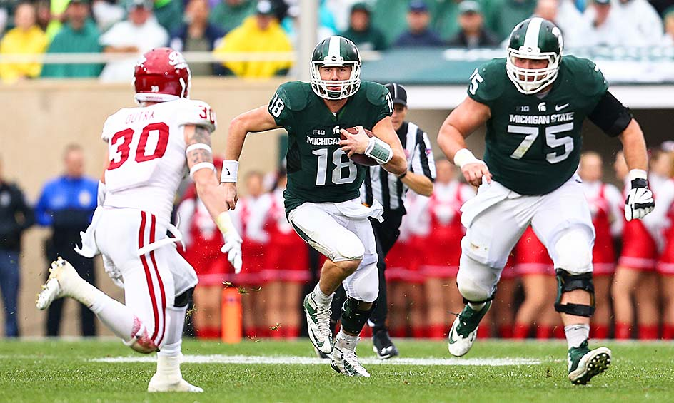 Michigan State 52, Indiana 26: The Hoosiers hung around for three quarters, but the Spartans outscored Indiana 24–0 in the fourth quarter to stay undefeated.