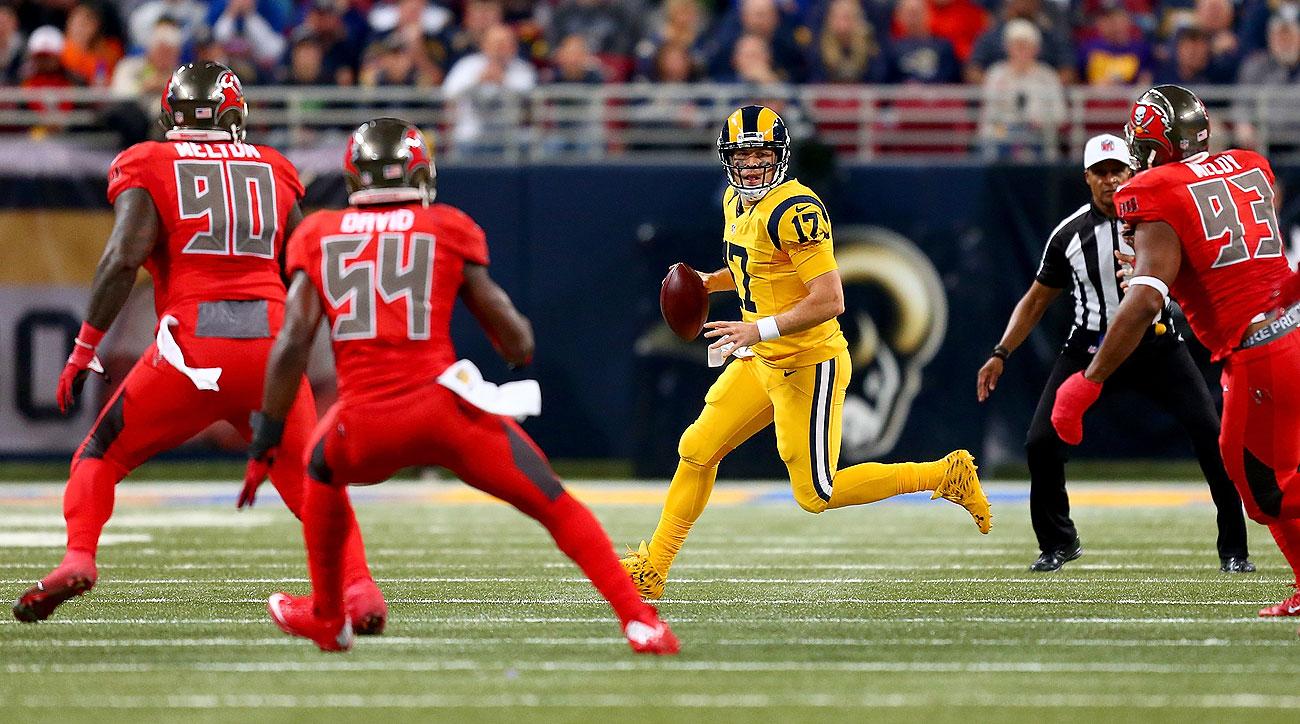 NFL Jersey's Pro Line Mens Los Angeles Rams Case Keenum Team Color Jersey