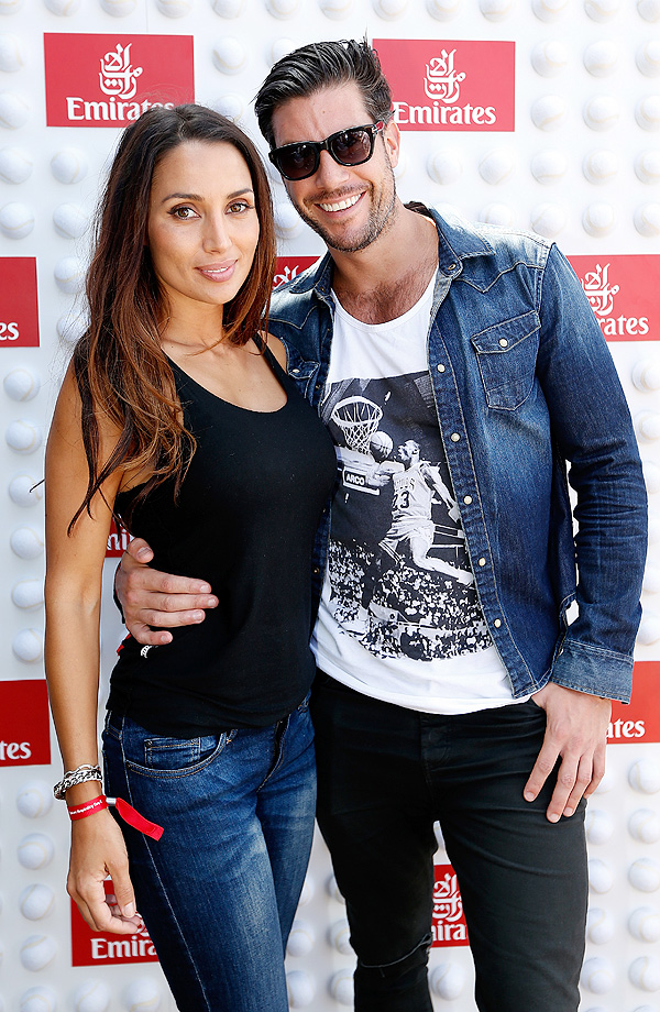 Snezana Markoski and Sam Wood arrive at the Emirates Suite at the Australian Open.