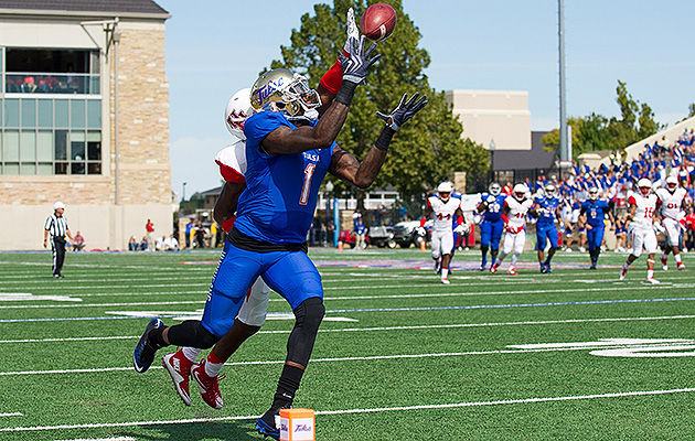 Garrett shined against some of the nation's best cornerbacks during Tulsa's non-conference schedule.