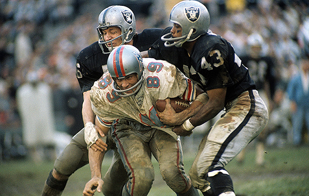George Atkinson (43) won a Super Bowl patrolling the defensive backfield with the rest of the Raiders' Soul Patrol.