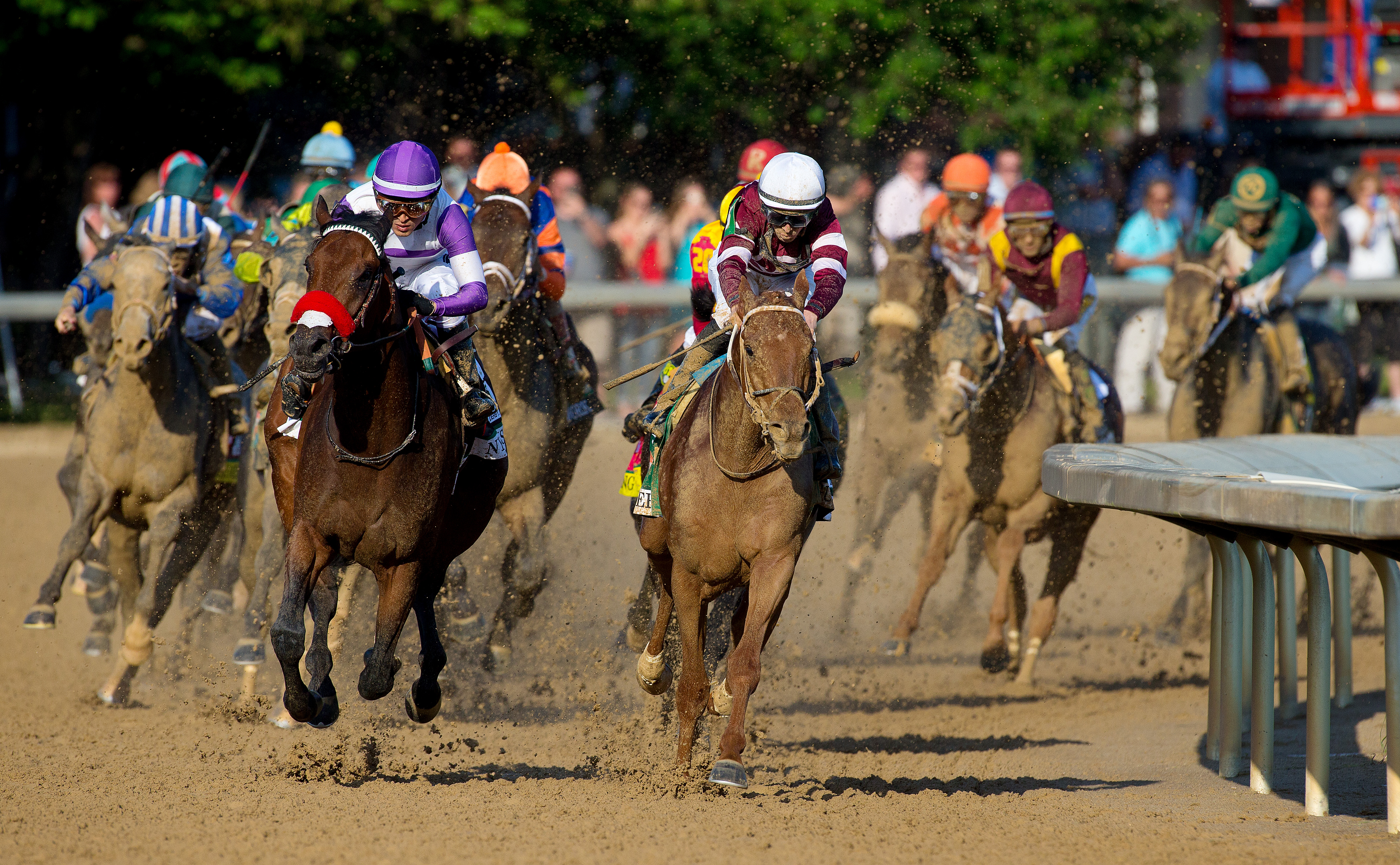 Gutierrez steered Nyquist to the outside on the final turn and the colt completed the 1 1/4 miles in 2:01.31.