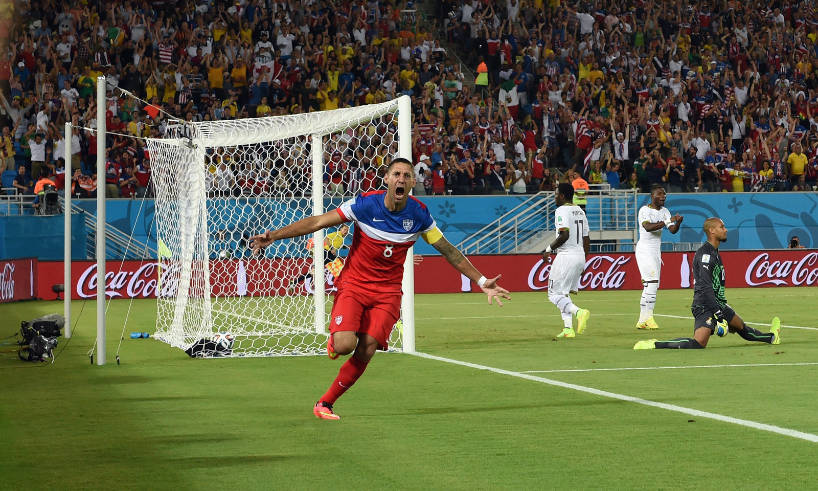 Clint Dempsey scores in the opening minute of the USA's 2014 World Cup opener against Ghana.