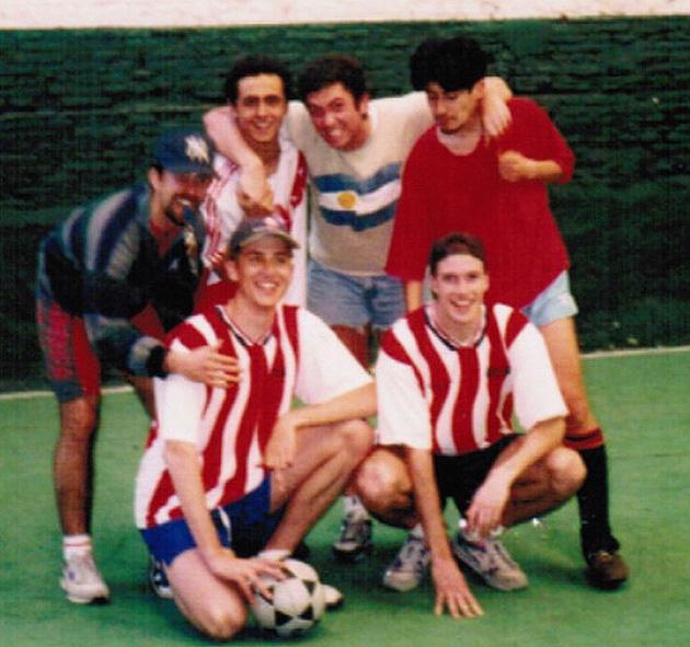 Standing (L to R): Diego El Blanco, Diego El Negro, Alejandro, Ricardo. Kneeling (L to R): Matt, Grant.