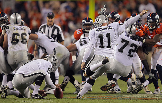 Janikowski drilled a 63-yard field goal in primetime to tie the standing NFL record at the time in 2011.