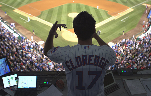 Brett Eldredge at Wrigley Field Tuesday night