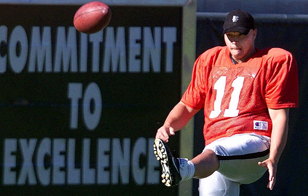 Janikowski struggled as a heavily scrutinized rookie, making just 22 of 32 field goals in 2000.