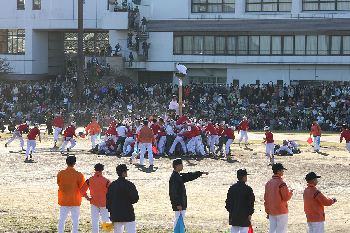 This very violent and intense Japanese sport is similar to that of capture the flag with a twist. The flag is a giant pole that 75 defenders protect from 75 attackers who ravenously attempt to take down the pole. The game is mainly played by cadets of Japan's National Defense Academy, making it not for the faint of heart.