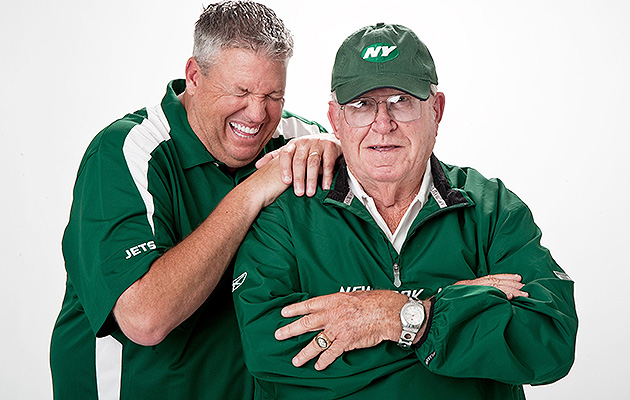 Rex and Buddy Ryan at a 2009 SI photo shoot in Florham Park, N.J.