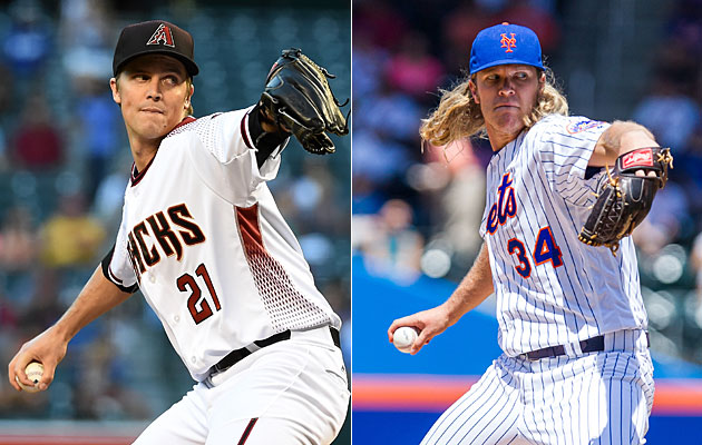 Zack Greinke (left) and Noah Syndergaard