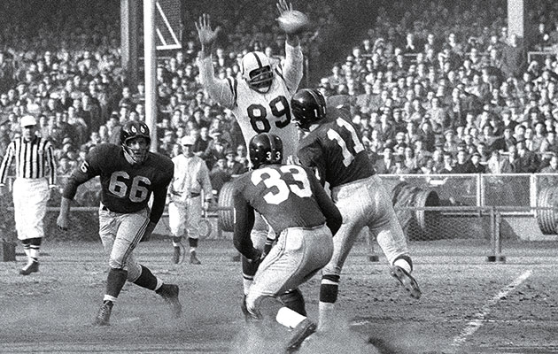Marchetti had to be taken into the locker room moments before the Colts won the first sudden-death game in NFL history.