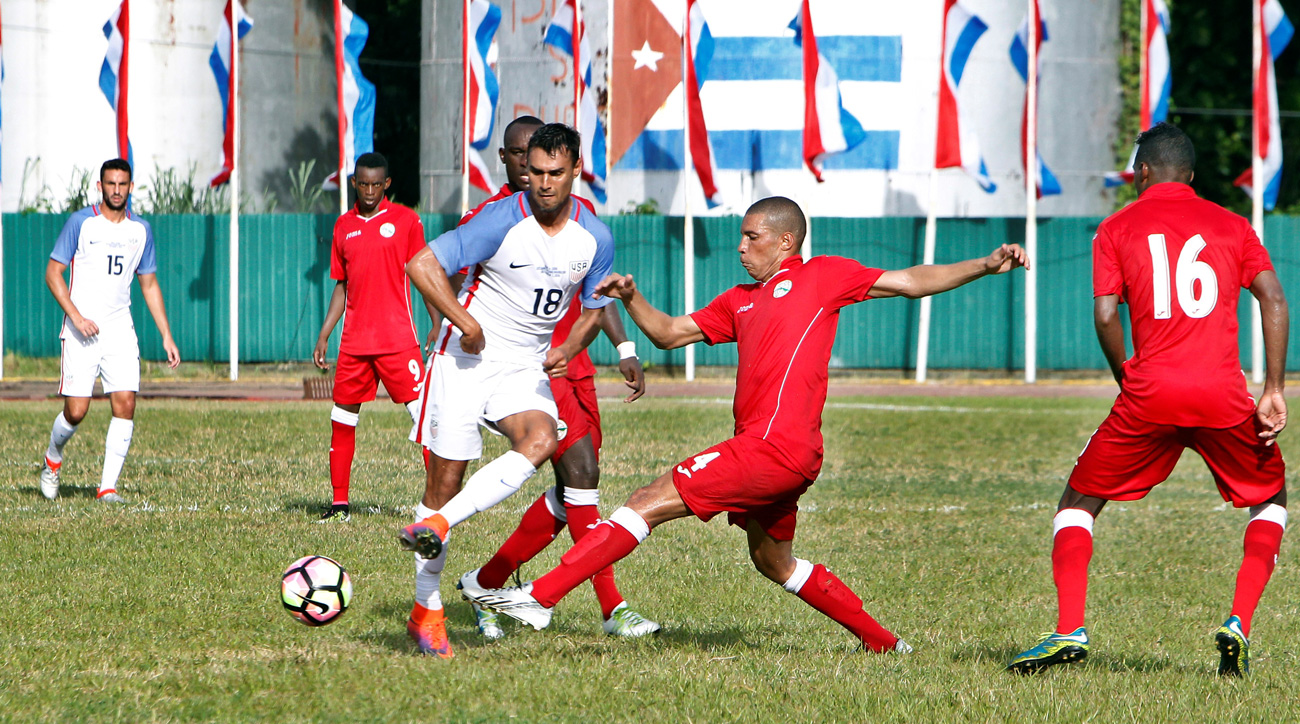 Chris Wondolowski scored a goal and assisted on another, as the USA continued World Cup qualifying preparations by beating Cuba 2-0 in a historic friendly in Havana.