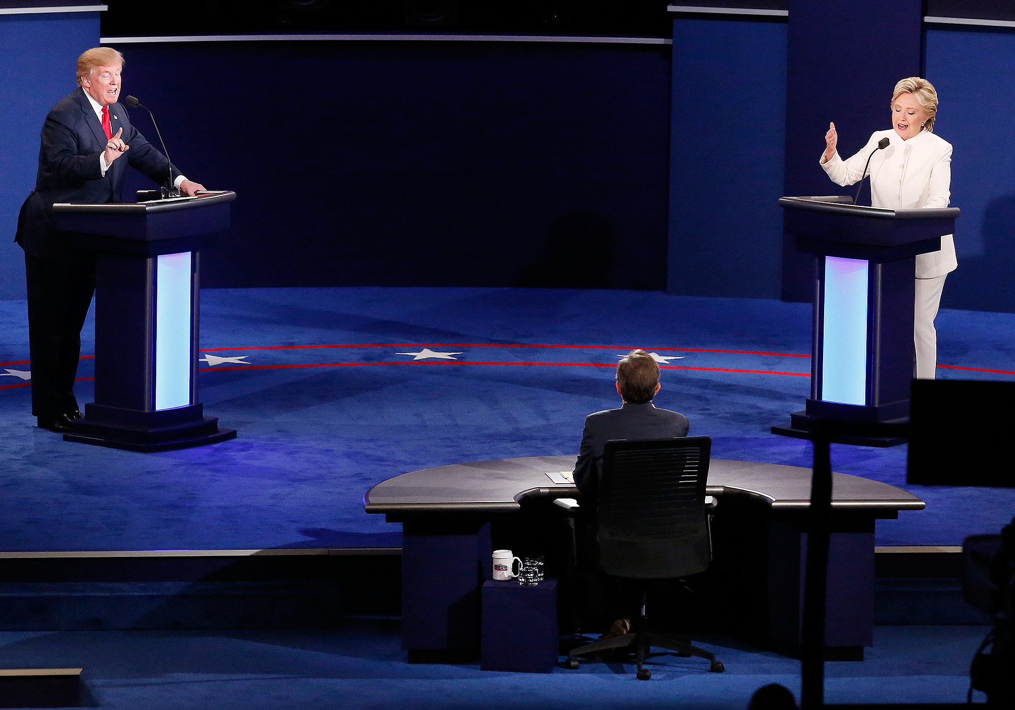 """The NFL has had the bad luck of going head-to-head against two of the most highly-watched presidential debates in history. The league sent out a memo pointing to the hotly contested 2000 election and a similar decrease in ratings. But it's not just that those two primetime games—the election seems to be robbing attention away from everything in American culture. A friend told me the other day that he misses following the Kardashians because he's so preoccupied with the election. """"Trump is ratings gold for the news networks,"""" says The MMQB's Andrew Brandt. """"He is taking viewers away from all non-news programming including, of course, NFL programming."""" The way Brandt sees it, it's a mistake to reach any conclusions about ratings until after Nov. 8."""