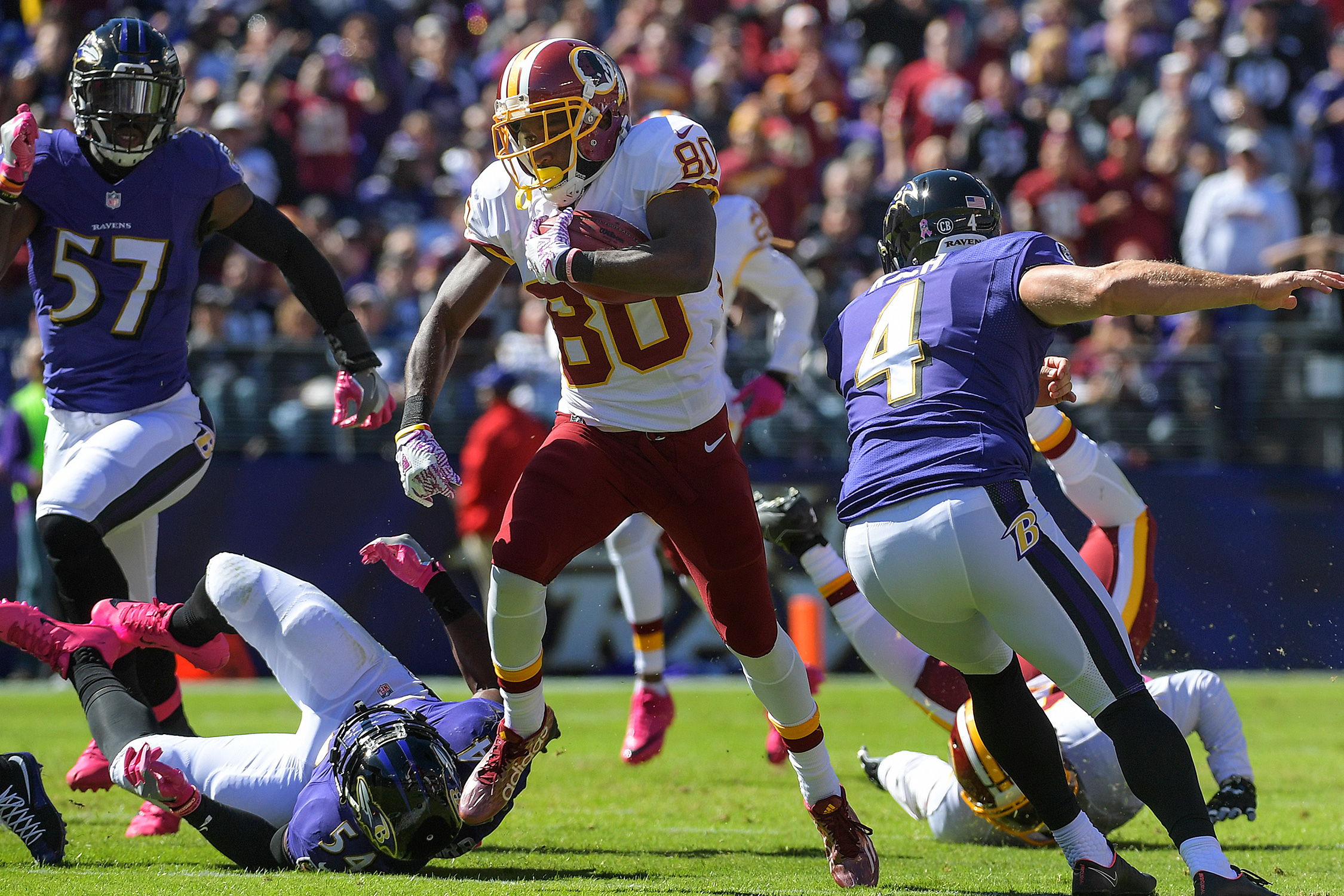 Crowder has been an impressive weapon for the Redskins all season, but he probably cemented his place on this list in Week 5, when he returned a punt 85 yards for a touchdown early in a win over the Ravens.
