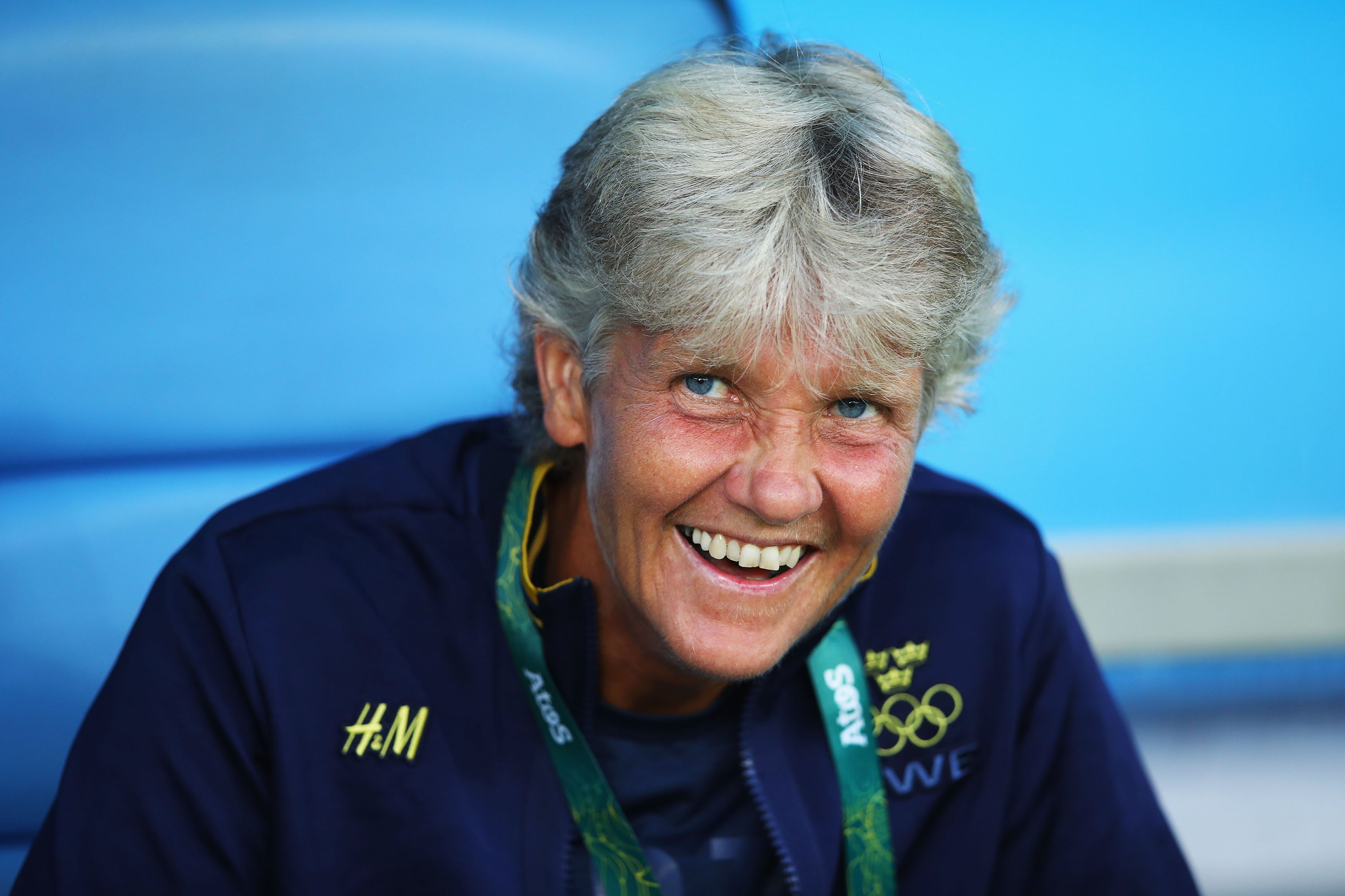 """Sweden manager Pia Sundhage was in the news this summer primarily because of Hope Solo, who called Sundhage's side """"cowardly"""" after the U.S. was upset in the knockout stage of the Olympics. But Sundhage, who previously coached the USWNT, responded by leading an underdog Sweden team all the way to the gold medal match, where they lost narrowly to Germany. Sundhage did it by instructing her team to play defensively, absorbing pressure and counterattacking successfully to upset the U.S. and Brazil on their way to a silver medal. Not exactly cowardly."""