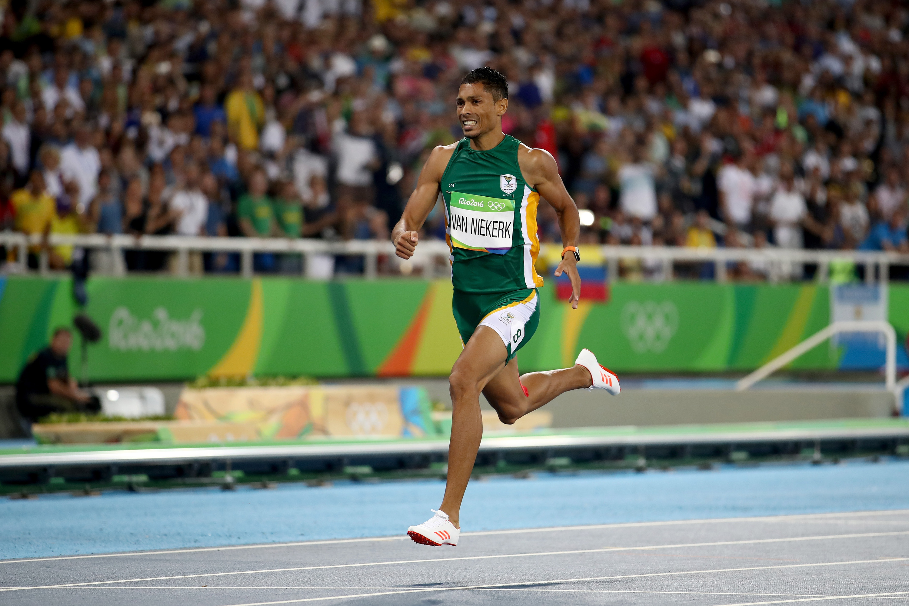 On Aug. 14, the world tuned into track and field at the Olympics to watch the 100 meter final and Usain Bolt vie for a third consecutive gold medal in the marquee event. Bolt made history, but the most impressive achievement of the night belonged to South Africa's Wayde Van Niekerk, who won the 400-meter final from lane eight in a world record of 43.03. The time shattered Michael Johnson's 43.18 world record set 17 years ago. Van Niekerk finished the year unbeaten in all of his 11 races at 100 meters, 200 meters and 400 meters. At just 24 years old, he is one of the stars in a sport that will soon be without Usain Bolt.