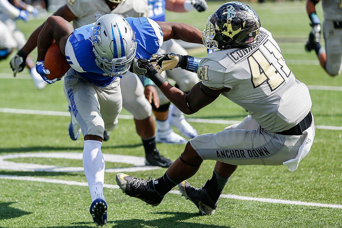 Cunningham is one of the best run-stuffing linebackers in the country, and he came up with big play after big play as the Commodores scraped their way to bowl eligibility down the stretch. His play strength is indisputable, and he could stoke the first-round hype he's already getting by flashing the sideline-to-sideline range needed to neutralize NC State's balanced offense.