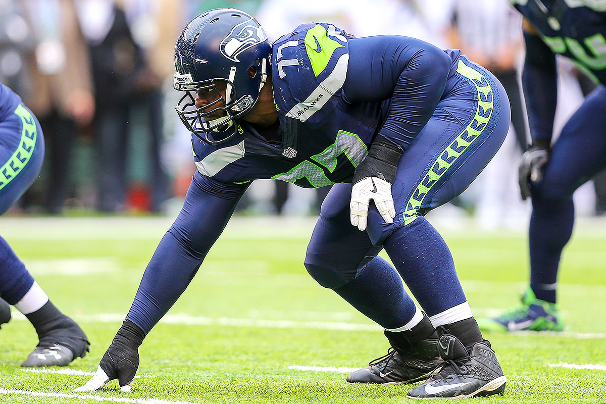 A member of the Browns from 2008-14, Rubin jumped ship for Seattle in 2015, and he's now doing the dirty work as a nose tackle for the Seahawks' line. His stats never have jumped off the page (15.0 sacks in nine seasons), but that's not really his role—he puts his 320-pound frame to use plugging gaps and helping to stuff the run.