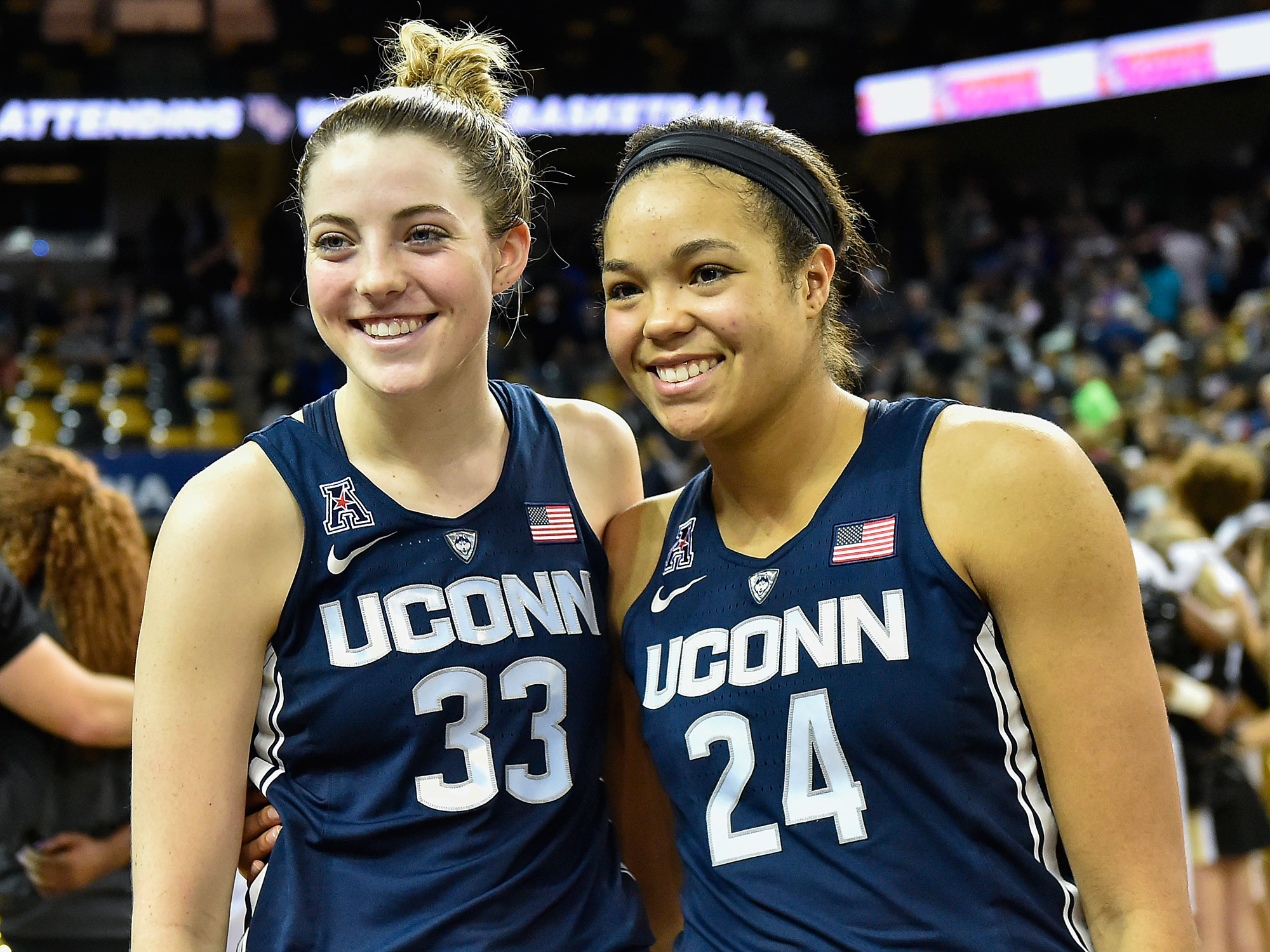 Sophomore stars Katie Lou Samuelson (left) and Napheesa Collier have never lost a college game.