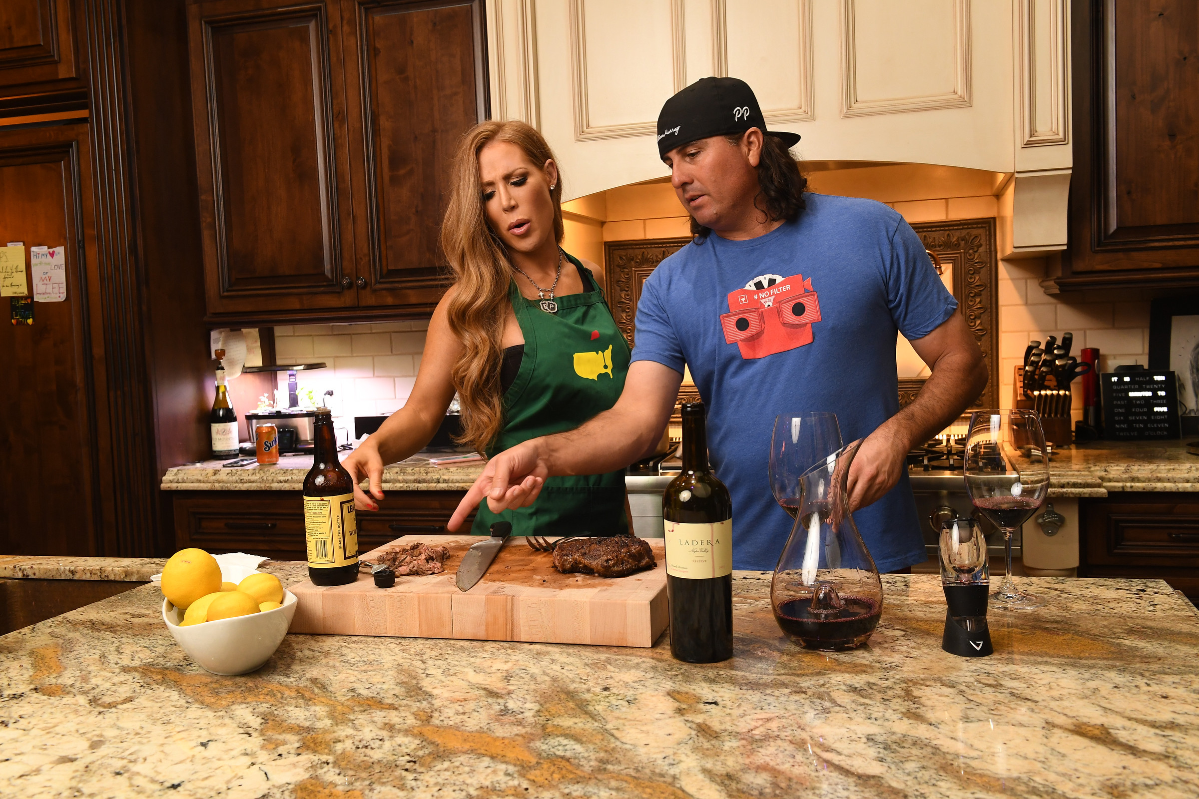Stuffed pork chops, anyone? Perez often cooks for fellow pro, Jason Kokrak, his frequent roommate while traveling on tour.