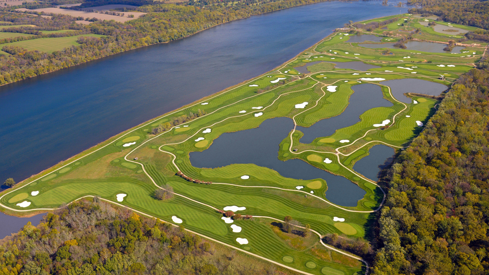 Venue for the 2017 Senior PGA Championship, this renovated layout could almost be considered an entirely new course. Trump cobbled together holes from existing Tom Fazio and Arthur Hills designs, added a few new holes and yanked out a line of huge trees to provide spectacular unobstructed views of the Potomac River.