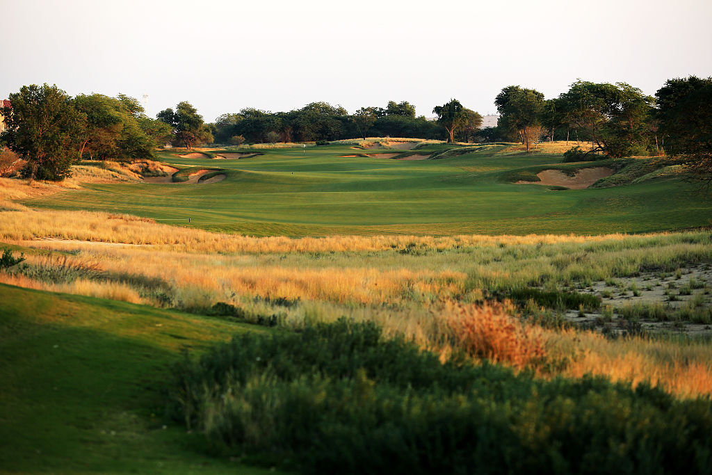"""The sibling to Jumeirah's championship course might well be called """"Jumeirah Earth Light."""" It's another Greg Norman creation from 2009 and dishes out many of the same features as its brawnier brother, but it's more playable for the average golfer, with more strategy options and more receptive greens."""