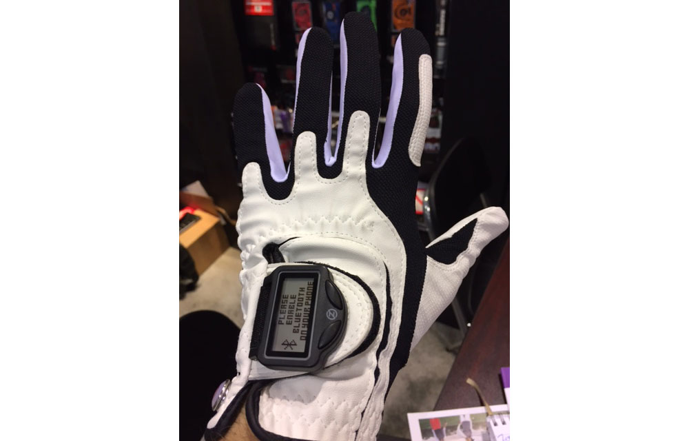 The Distance Pro GPS glove allows for yardages to be seen at a glance.