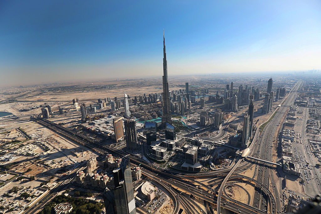 The Burj Khalifa tower in Dubai, the tallest mixed use tower in the world.
