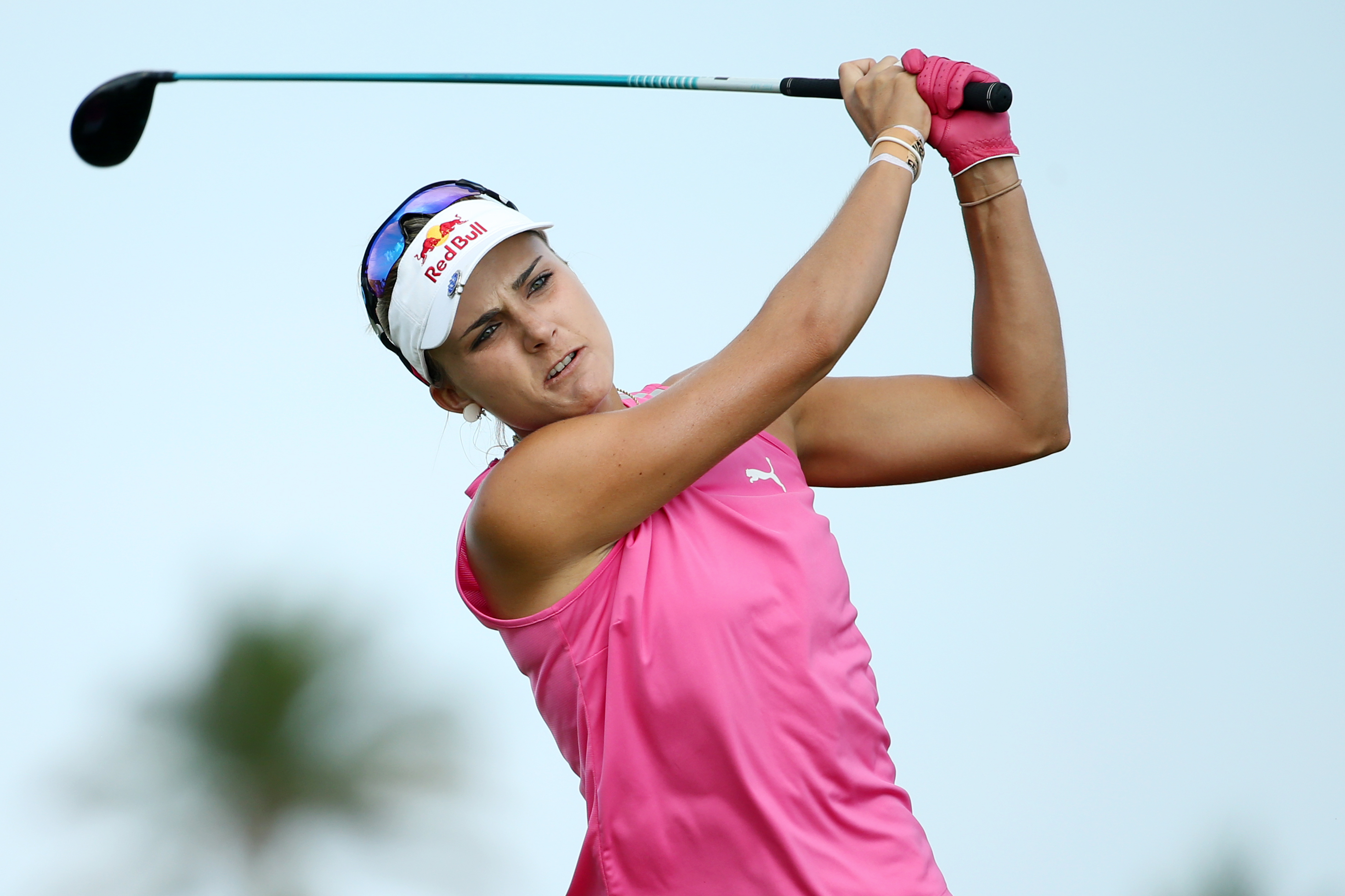 Lexi Thompson is tied atop the LPGA's Pure Silk Bahamas Classic leaderboard with fellow American Stacy Lewis.