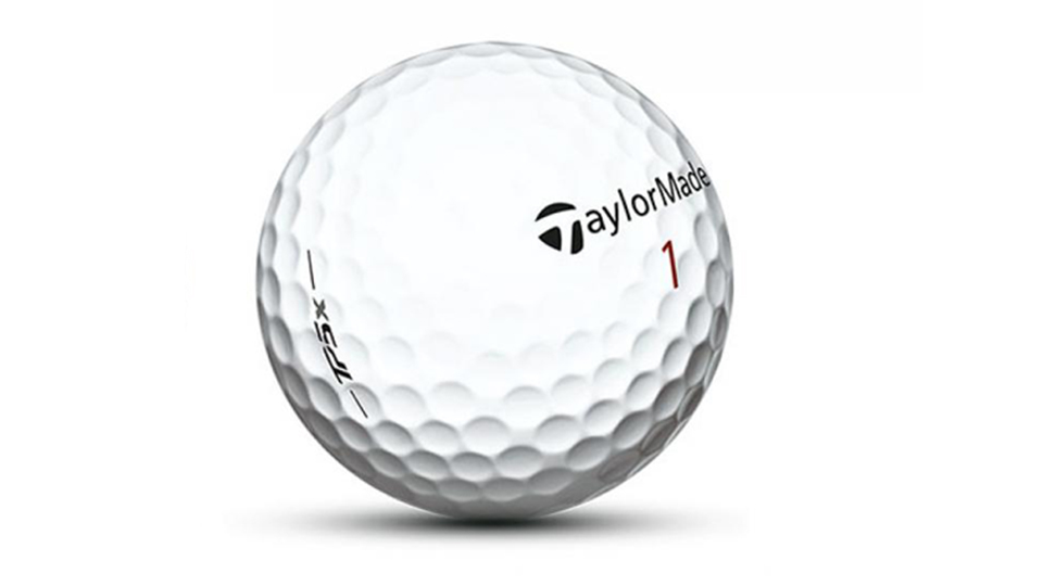 The TaylorMade TP5x golf ball.