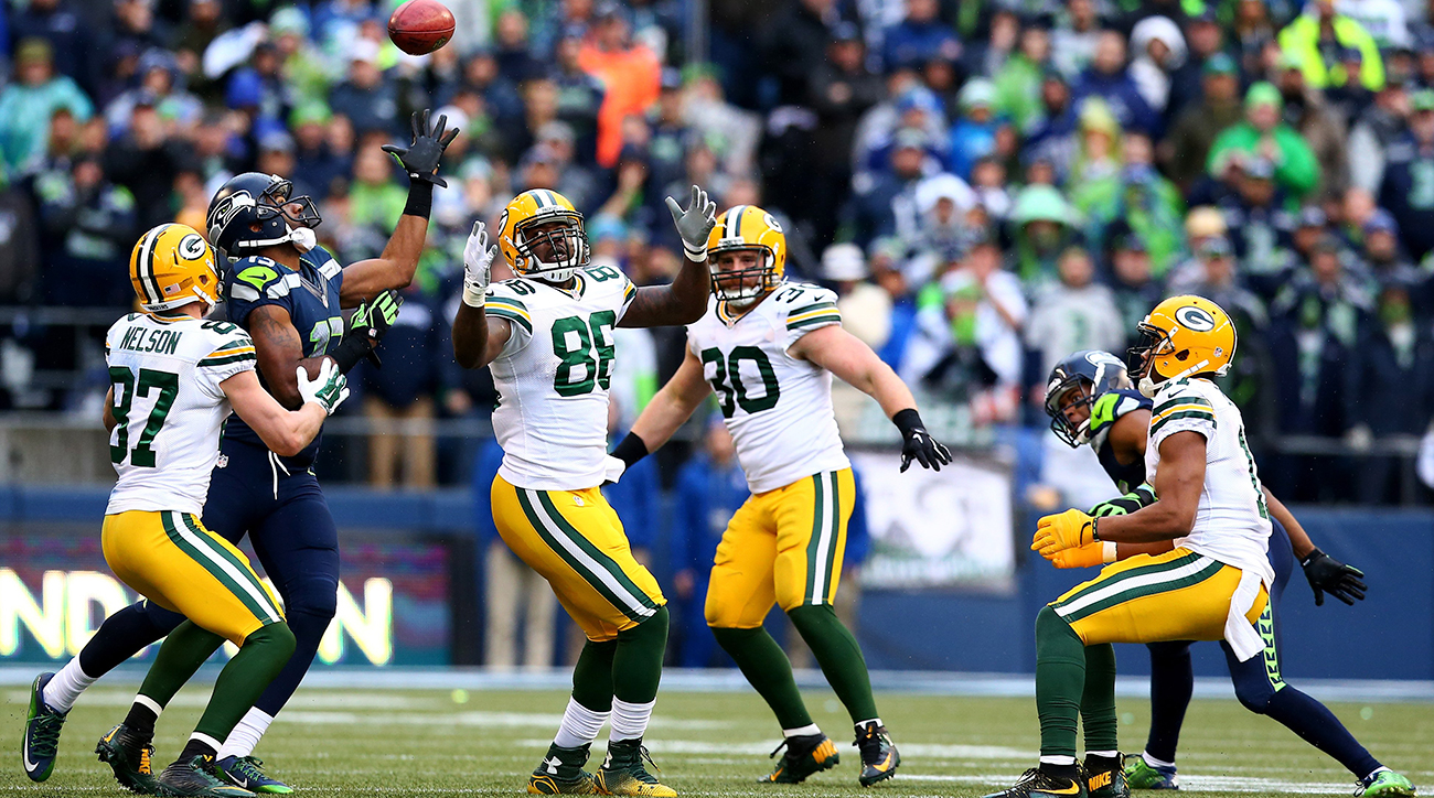 Matthews (far left) came out of nowhere to recover a season-saving onside kick in the NFC title game.