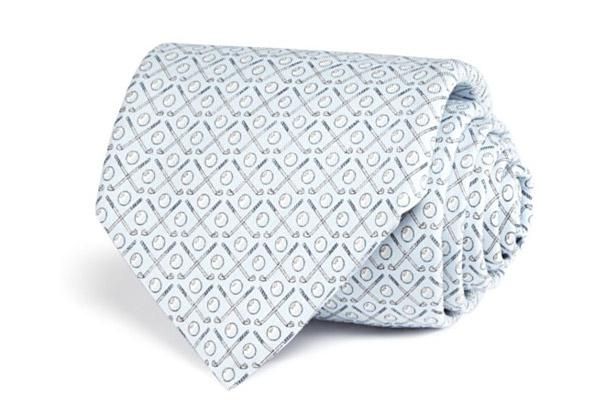 """Make golf part of your office attire with these silk ties from Vineyard Vines. <a href=""""http://click.linksynergy.com/fs-bin/click?id=93xLBvPhAeE&subid=0&offerid=465536.1&type=10&tmpid=2425&RD_PARM1=http%3A%2F%2Fwww1.bloomingdales.com%2Fshop%2Fproduct%2Fvineyard-vines-golf-clubs-classic-tie%3FID%3D1717567%2526CategoryID%3D3864&u1=GOLFValentinesMen"""" target=""""blank"""">BUY NOW</a>"""