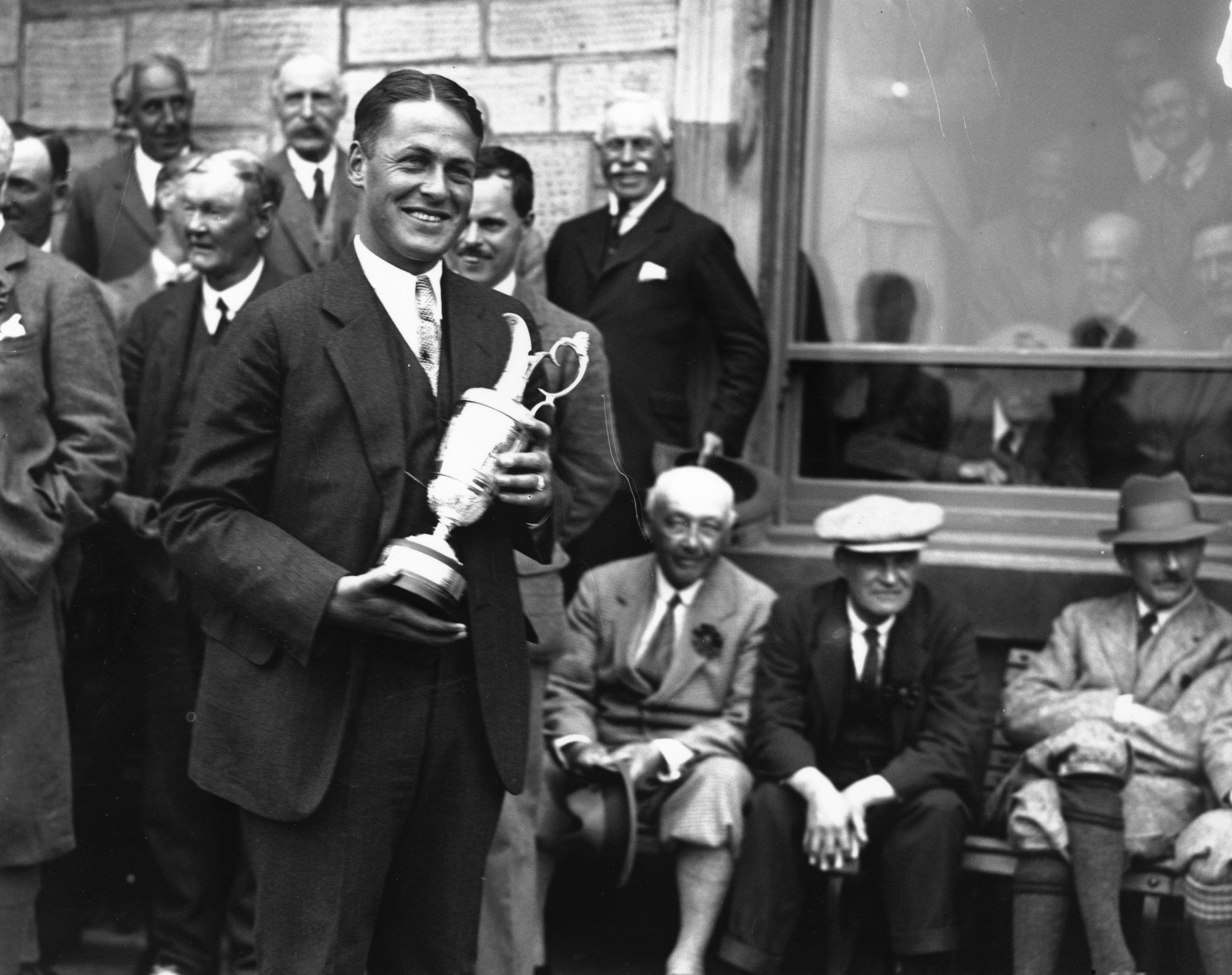 Bobby Jones at the 1927 Open Championship.