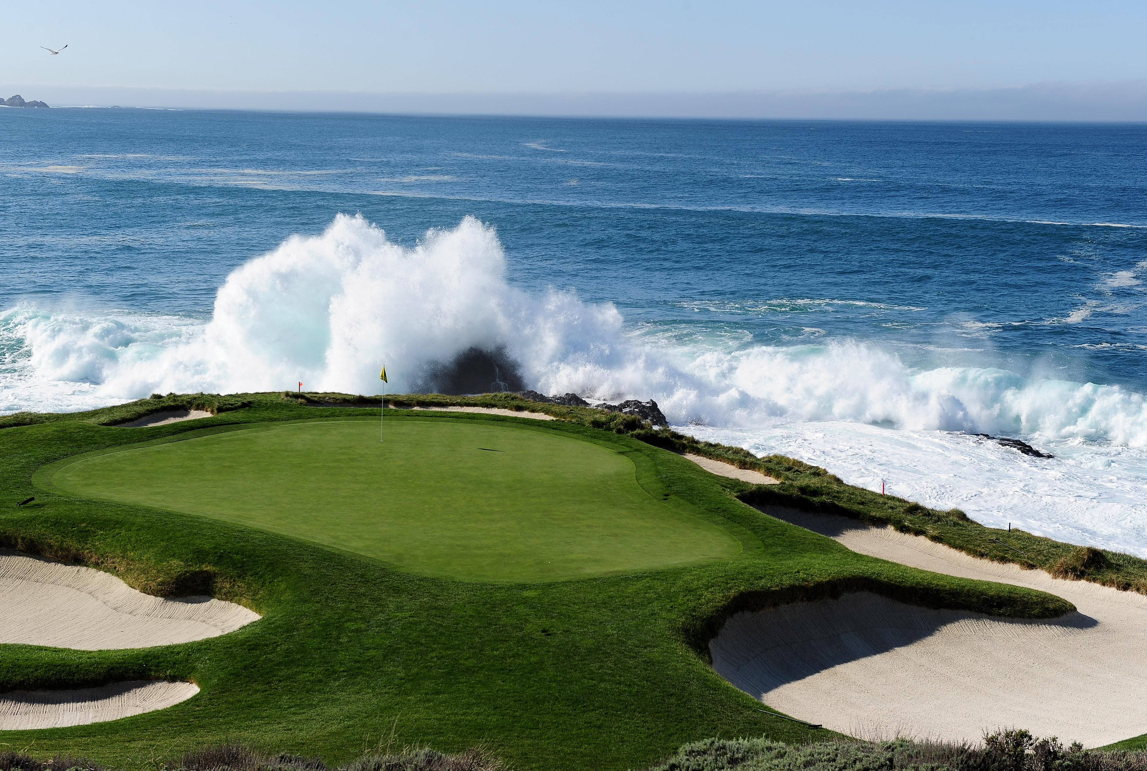 A view of the 7th hole at Pebble Beach Golf Links.
