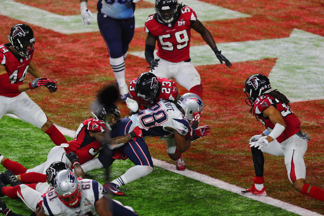 Image result for James white winning Super Bowl 51