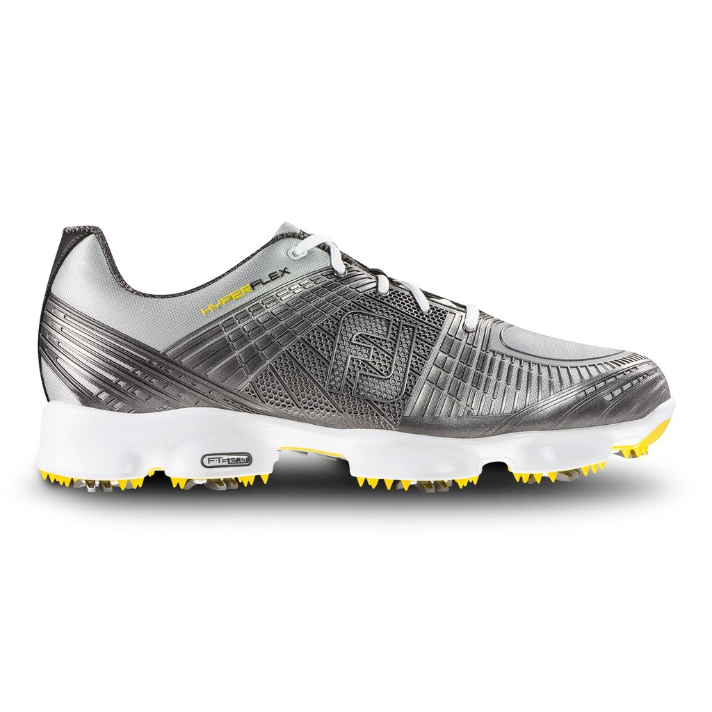 "With a two-year guarantee that it will remain 100 percent waterproof, the Hyperflex II is a good investment for golfers who often encounter muddy greens and soggy bunkers. It's still a comfortable and stylish golf shoe, made with a soft, stretchy mesh material that flexes as you walk. Foam cushioning inside the shoe keeps your feet feeling comfy. Also good for players trying to swing on slipping ground? Cleats that grip the surface and keep your heels and ankles stable as you move.  <a href=""http://www.pgatoursuperstore.com/footjoy-hyperflex-ii-mens-golf-shoe-black/1000000009455.jsp?site_referrer=golf.com"" target=""blank"">BUY NOW</a>"