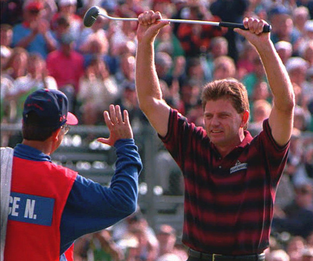 Price was hitting it so pure at the 1994 British Open, he was even striping it with his putter. The putter was a Ram Zebra, with a mallet-head and black-and-white alignment marks that inspired its name.