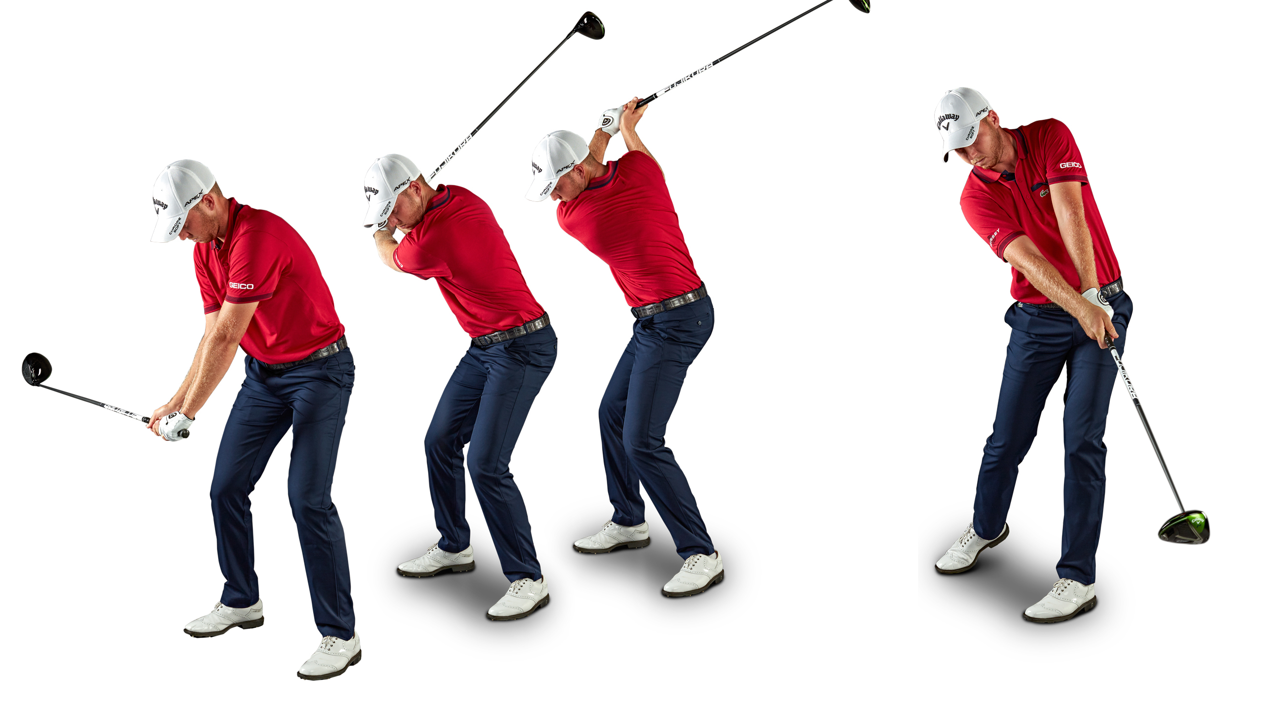 Get good at catching the sweet spot using a half-backswing before moving up to longer swings. On the range, prioritize dead-center contact over speed. If you don't know where the sweet spot is, you won't find it on the course.