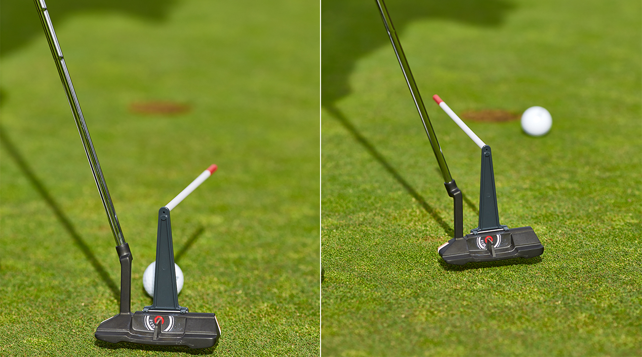 You need perfect timing to start putts on line using an arc stroke.