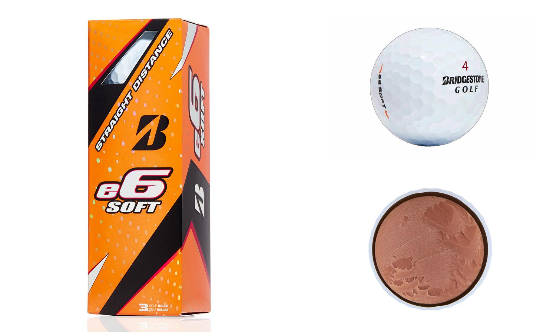 Bridgestone e6 Soft golf balls.