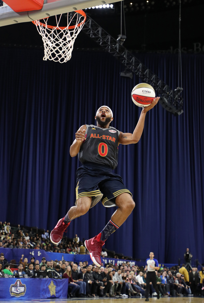 """Worn by Brandon """"B. Dot"""" Armstrong in the NBA Celebrity Game"""