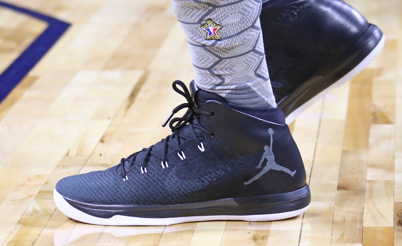 Worn by Jimmy Butler at NBA All-Star practice