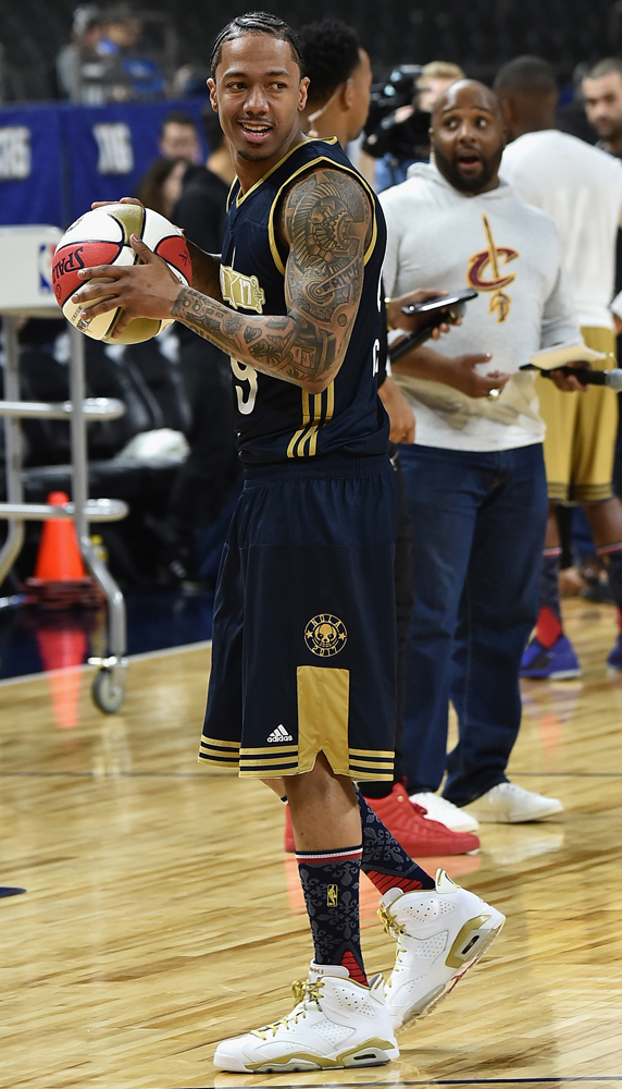 Worn by Nick Cannon in the NBA Celebrity Game